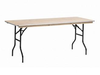 Table pliante en bois 120 et 180 cm - Devis sur Techni-Contact.com - 1