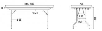 Table pliante en bois exotique - Devis sur Techni-Contact.com - 3