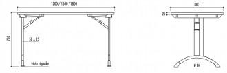 Table pliante en stratifié - Devis sur Techni-Contact.com - 2