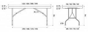 Table pliante rectangulaire - Devis sur Techni-Contact.com - 2