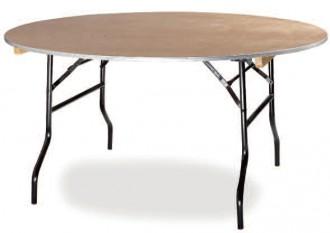 Table pliante ronde en bois - Devis sur Techni-Contact.com - 1