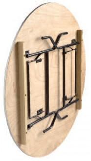 Table pliante ronde en bois - Devis sur Techni-Contact.com - 2