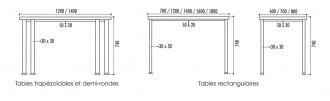 Table polyvalente collectivité - Devis sur Techni-Contact.com - 2