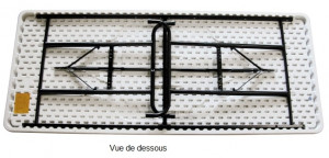 Table rectangulaire à hauteur réglable en polyéthylène - Devis sur Techni-Contact.com - 2