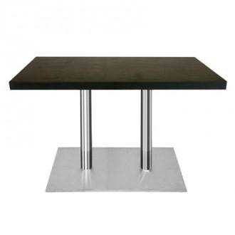 Table rectangulaire bois mélaminé couleur Wengé - Devis sur Techni-Contact.com - 1