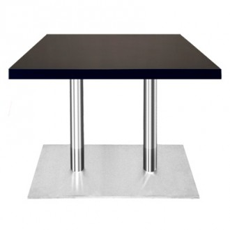 Table rectangulaire en bois plaqué aspect lisse - Devis sur Techni-Contact.com - 1