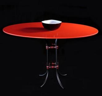 Table restaurant plateau rond - Devis sur Techni-Contact.com - 1