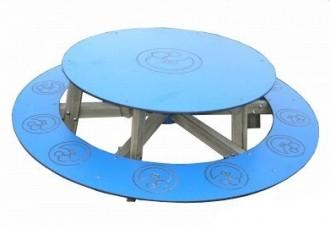 Table ronde d'extérieur avec banc - Devis sur Techni-Contact.com - 1