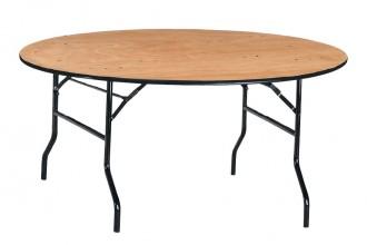Table ronde pliante en bois - Devis sur Techni-Contact.com - 1