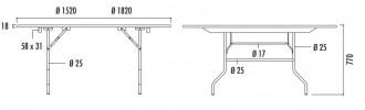 Table ronde pliante en bois - Devis sur Techni-Contact.com - 2