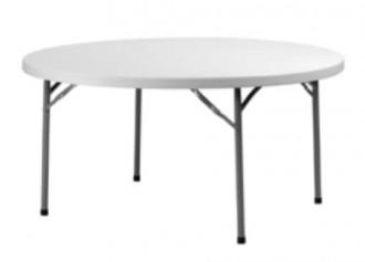 Table ronde polyéthylène pliante - Devis sur Techni-Contact.com - 1