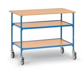 Table servante sur roues pivotantes charge 150 kg - Devis sur Techni-Contact.com - 1