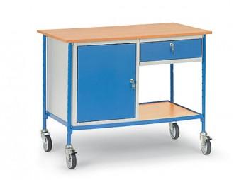 Table servante sur roues pivotantes charge 150 kg - Devis sur Techni-Contact.com - 3
