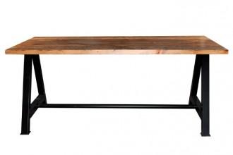 Table style industriel plateau en bois - Devis sur Techni-Contact.com - 1