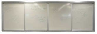 Tableau blanc coulissant support écran interactif - Devis sur Techni-Contact.com - 3