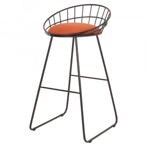 Tabouret de bar en velours - Devis sur Techni-Contact.com - 1