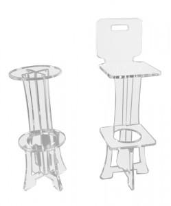Tabouret de bar plexiglas - Devis sur Techni-Contact.com - 1