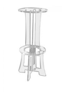 Tabouret de bar plexiglas - Devis sur Techni-Contact.com - 2