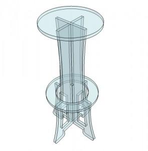 Tabouret de bar plexiglas - Devis sur Techni-Contact.com - 4