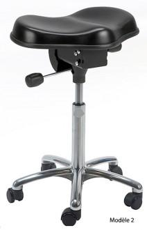 Tabouret ergonomique réglable avec selle - Devis sur Techni-Contact.com - 2