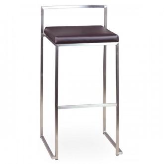 Tabouret haut assise en simili cuir - Devis sur Techni-Contact.com - 1