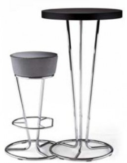 Tabouret haut structure chrome - Devis sur Techni-Contact.com - 1