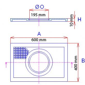 Tampon pour regard siphoïde en fonte B 125 - Devis sur Techni-Contact.com - 2