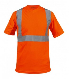 Tee shirt col V de signalisation - Devis sur Techni-Contact.com - 2