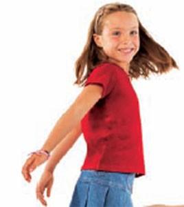 Tee-shirt personnalisable manches courtes enfant côte 1x1 - Devis sur Techni-Contact.com - 1