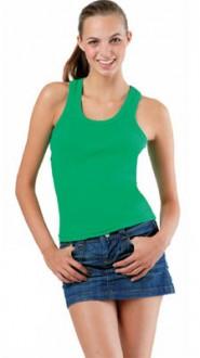 Tee-shirt personnalisable sans manches femme côte 1x1 - Devis sur Techni-Contact.com - 1
