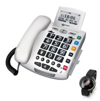 Téléphone multifonctions avec télécommande appel d'urgence - Devis sur Techni-Contact.com - 1