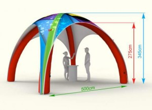 Tente publicitaire gonflable personnalisable - Devis sur Techni-Contact.com - 5