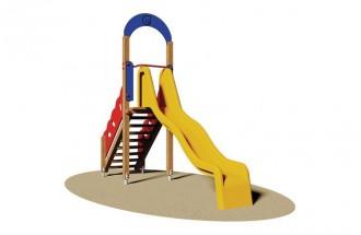 Toboggan en bois pour parc de jeux - Devis sur Techni-Contact.com - 1