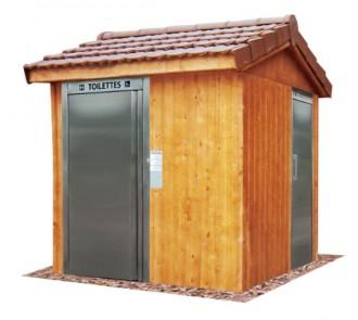 Toilette publique à toit 2 pans - Devis sur Techni-Contact.com - 1