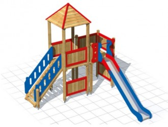 Tourelle échelle en bois - Devis sur Techni-Contact.com - 1