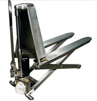 Transpalette manuel haute levée inox 316 - Devis sur Techni-Contact.com - 1