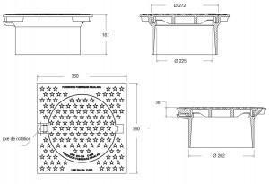 Tampon de chaussée carré C-400 - Devis sur Techni-Contact.com - 2