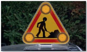 Triangle de signalisation tri flash pour véhicules - Devis sur Techni-Contact.com - 1