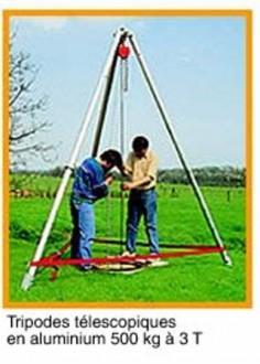 Tripode télescopique avec treuil CT4 - Devis sur Techni-Contact.com - 1