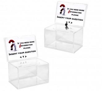 Urne acrylique avec porte visuels - Devis sur Techni-Contact.com - 1