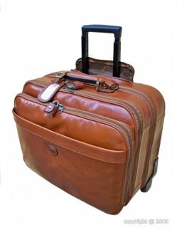 Valise de cabine cuir avec trolley - Devis sur Techni-Contact.com - 1