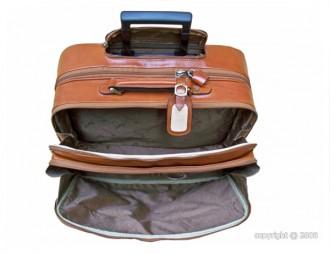 Valise de cabine cuir avec trolley - Devis sur Techni-Contact.com - 2