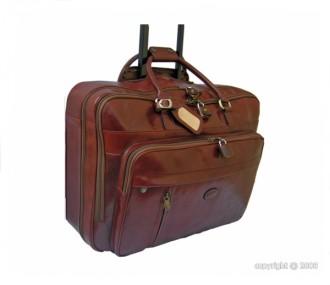 Valise de cabine en cuir coloris fauve - Devis sur Techni-Contact.com - 1