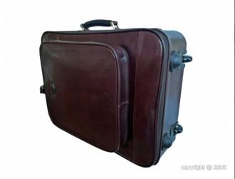 Valise en cuir de vachette avec trolley - Devis sur Techni-Contact.com - 2