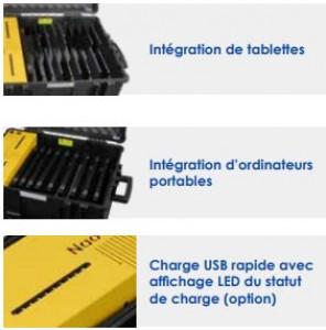 Valise de transport et de rechargement tablettes et PC - Devis sur Techni-Contact.com - 3