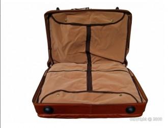 Valise porte-habit en cuir avec trolley - Devis sur Techni-Contact.com - 2