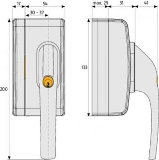 Verrou à clé pour fenêtre Broche de 30 à 37 mm - Devis sur Techni-Contact.com - 5