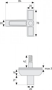 Verrou fenêtre Fixation par ancrage - Devis sur Techni-Contact.com - 4