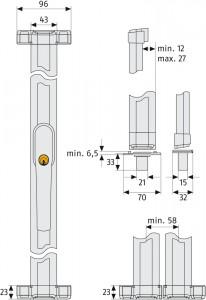 Verrou multi-points fenêtre à tringle - Devis sur Techni-Contact.com - 3