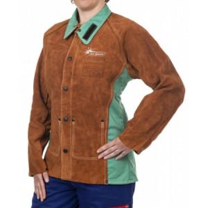 Veste de soudeuse coupe femme Lava Brown Weldas - Devis sur Techni-Contact.com - 1